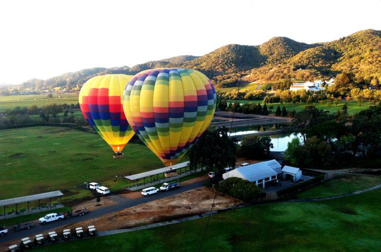 Foto tomada por Raysa y Fernando sobrevolando Napa Valley