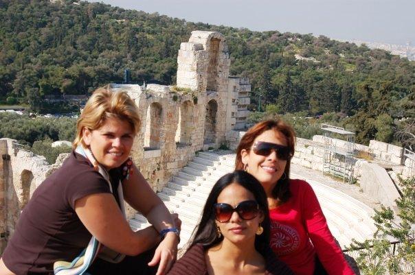 Junto a mis amigas Veronica Magliano y Judith Mora durante un viaje inolvidable