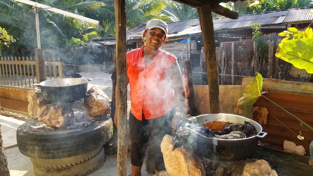 Noli, la cocinera más recomendada de la comunidad de Cristal.
