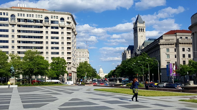 Plaza en Washington DC