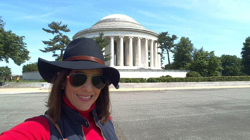 Selfie en el Thomas Jefferson Memorial