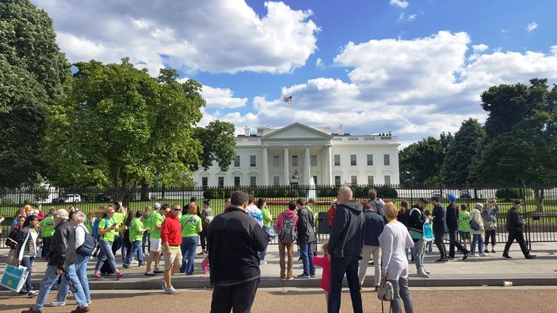 Turistas en la Casa Blanca